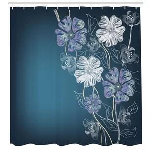 art shower curtain set hooks