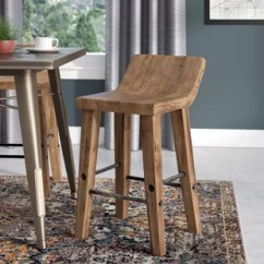 Wood Stool Chair Design Cover Rentals Table Runner X Back Counter Wayfair Quickview