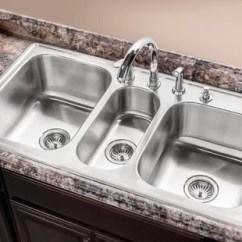 Triple Sink Kitchen Outdoor Design Plans Wayfair Premiere Gourmet Topmount Bowl