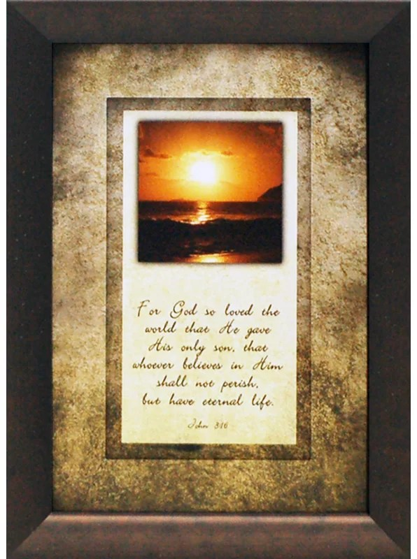 For God So Loved the World That He Gave His Only Son by Brett West Framed Graphic Art