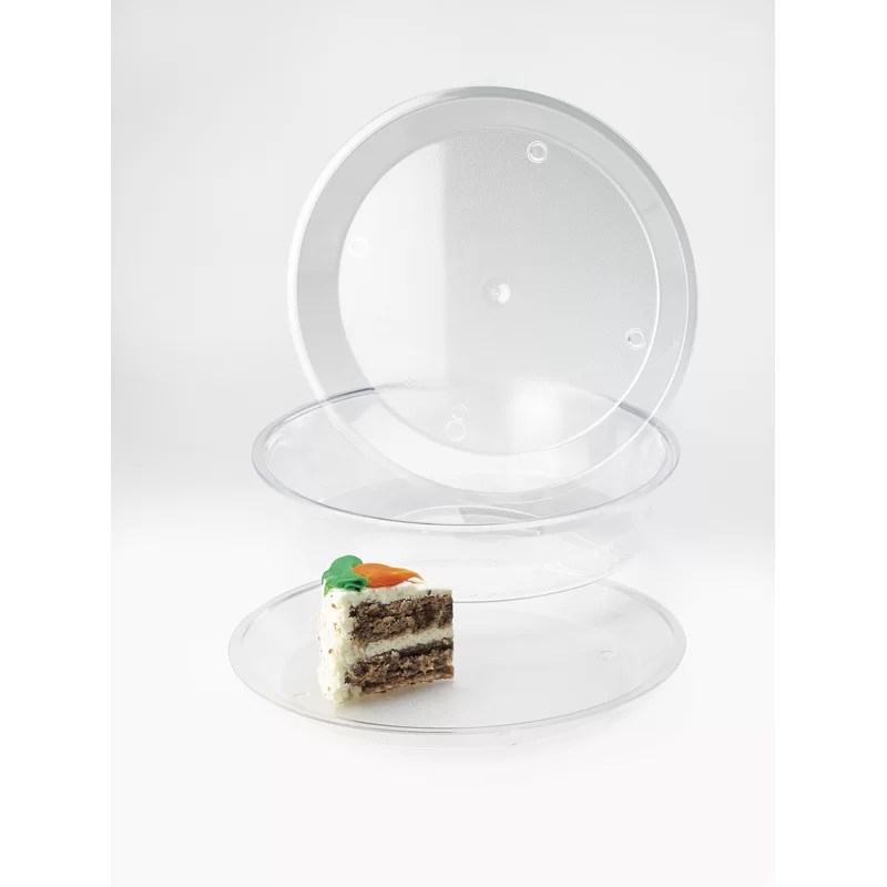 Round Deep Tray Size: 3.5 H x 10 W x 10 D Color: Clear