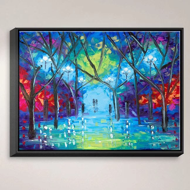 Ever After by Jessilyn Park Painting Print on Wrapped Framed Canvas Size: 12.75 H x 15.75 W x 1.75 D Frame Color: Black