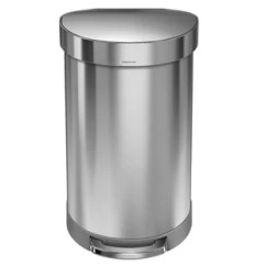 Stainless Steel Kitchen Trash Can Wall Art For The Cans You Ll Love Wayfair 11 9 Gallon Semi Round Step Brushed