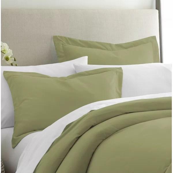 sage green pillow shams