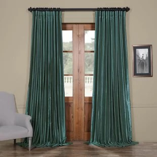 furst wide solid blackout thermal rod pocket single curtain panel