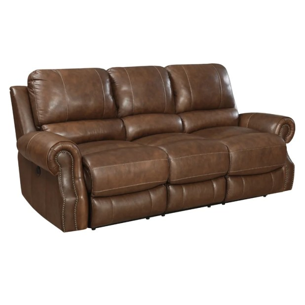 Reclining Sofa Leather Brown Www Gradschoolfairs Com