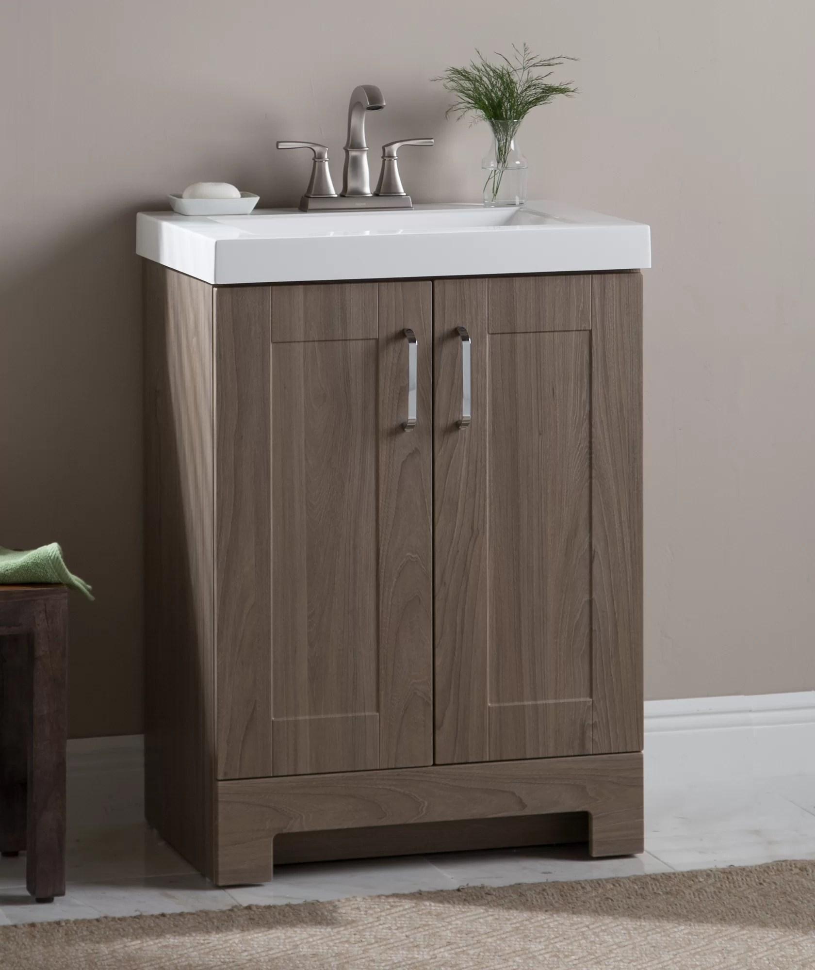 Zipcode Design Nels 25 Single Bathroom Vanity Set Reviews Wayfair