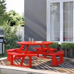 filomena octagonal 8 person 98 long picnic table