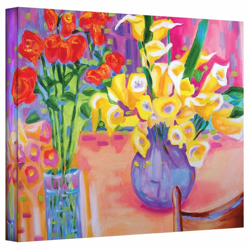 Summer Flowers by Susi Franco Painting Print on Canvas Size: 24 H x 32 W