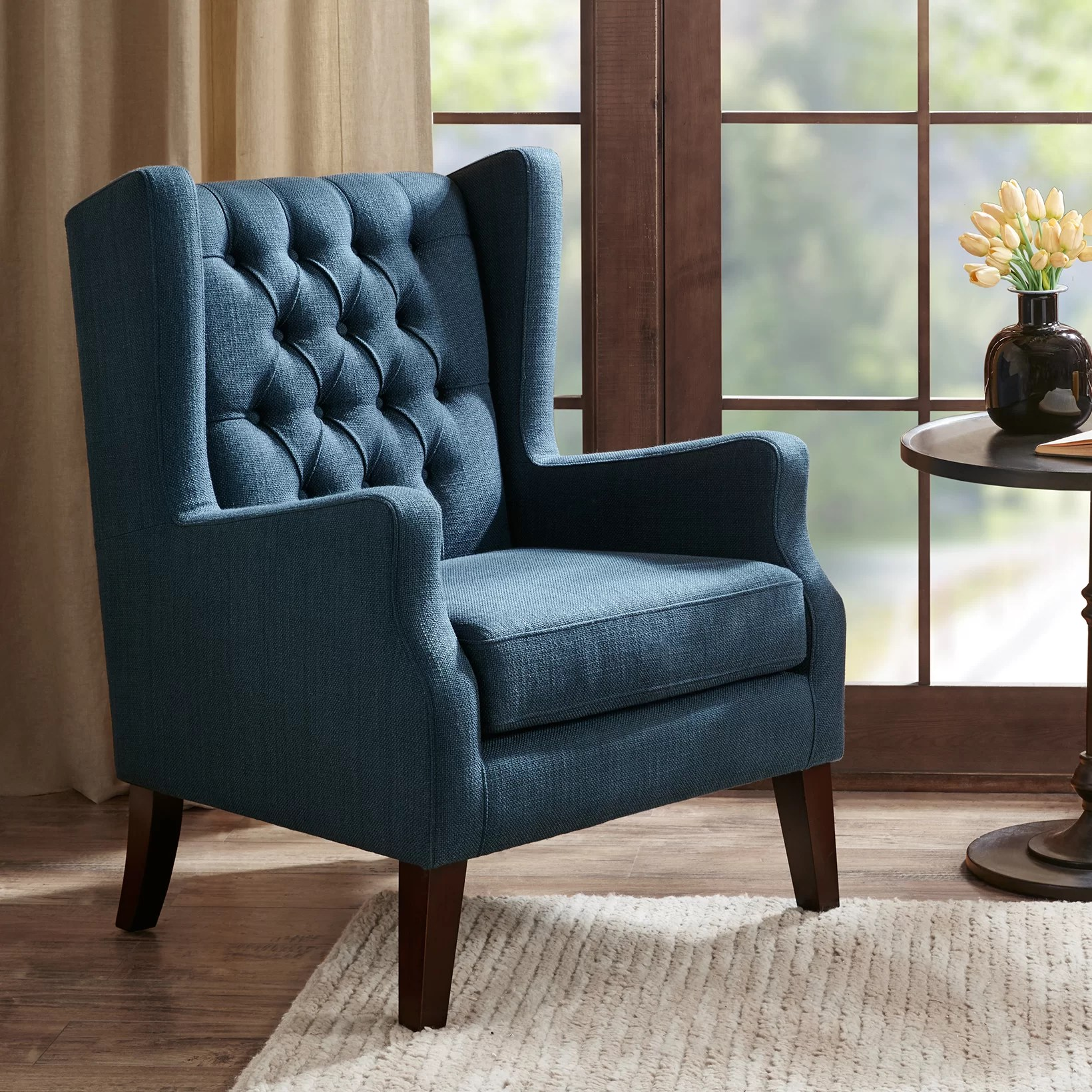 Wing Chair Three Posts Allis Wingback Chair Reviews Wayfair Ca