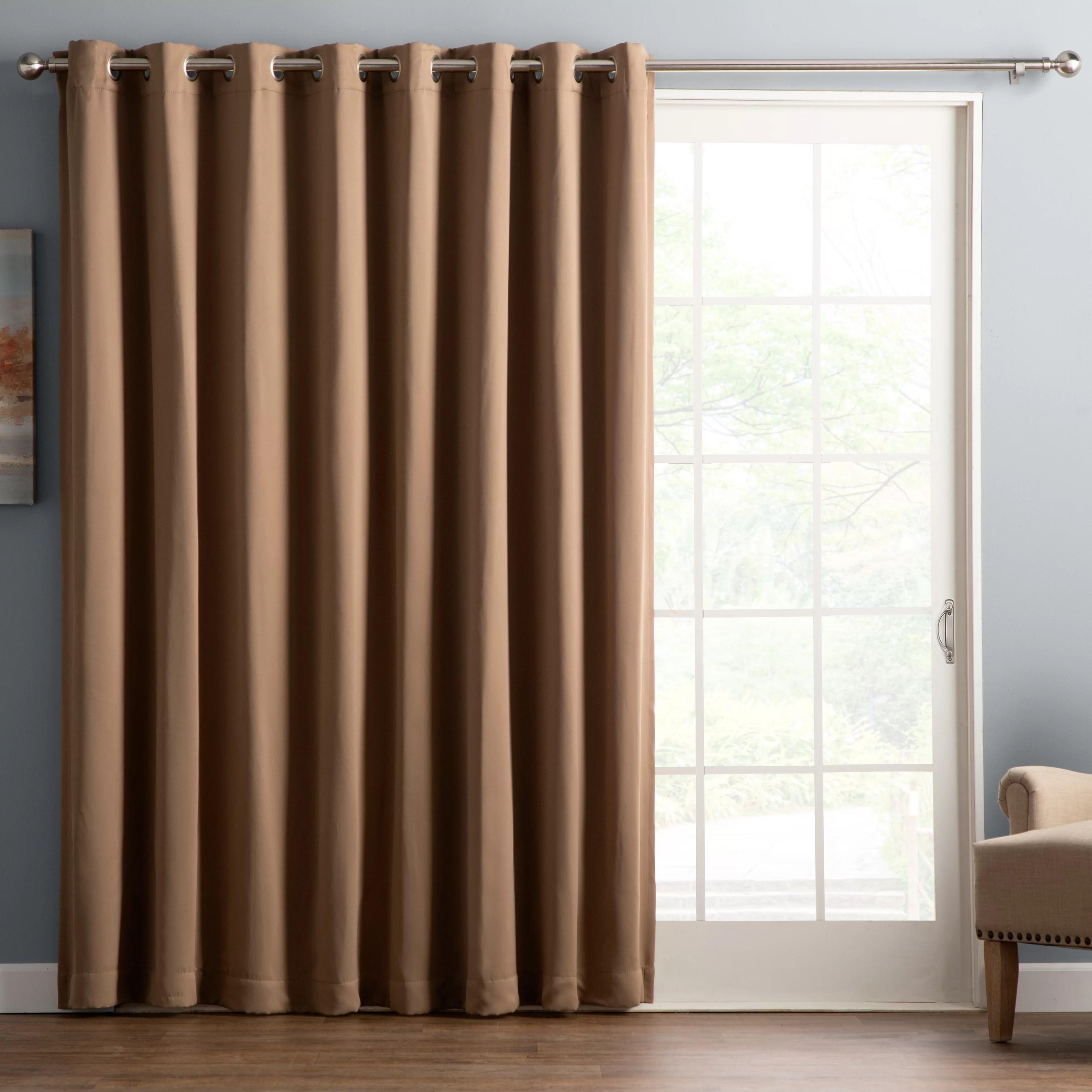 wayfair basics solid blackout grommet single curtain panel