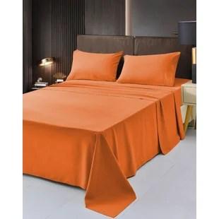 orange silk satin sheets