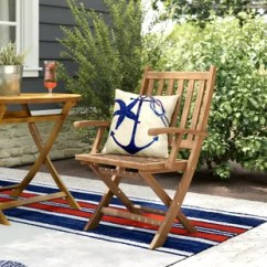 Teak Folding Chair Covers For Wedding Outdoor Wayfair Elaina Wood