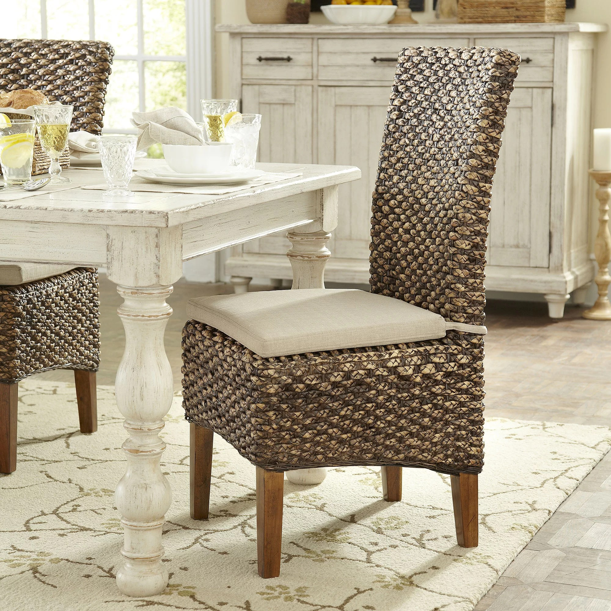 Seagrass Dining Chair Birch Lane Heritage Augusto Woven Seagrass Side Chair