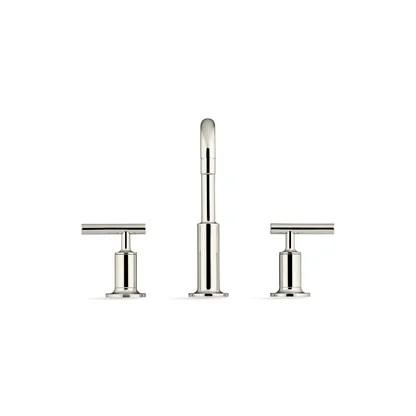 polished nickel bathroom sink faucets