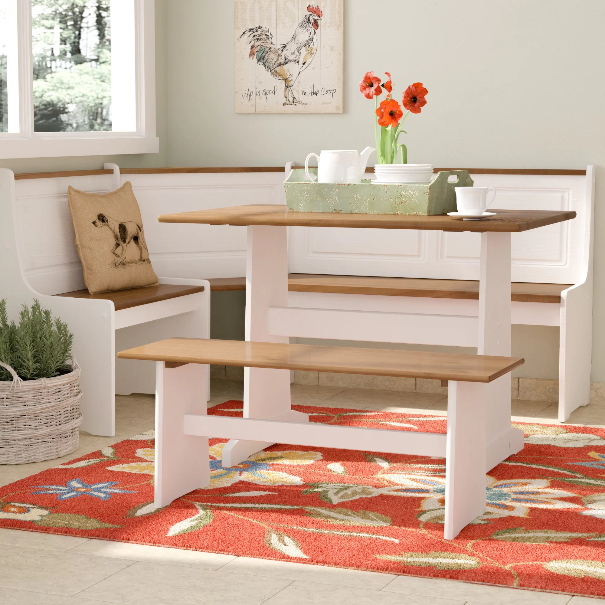 kitchen nook table counter outlets seating wayfair ca birtie 3 piece breakfast dining set