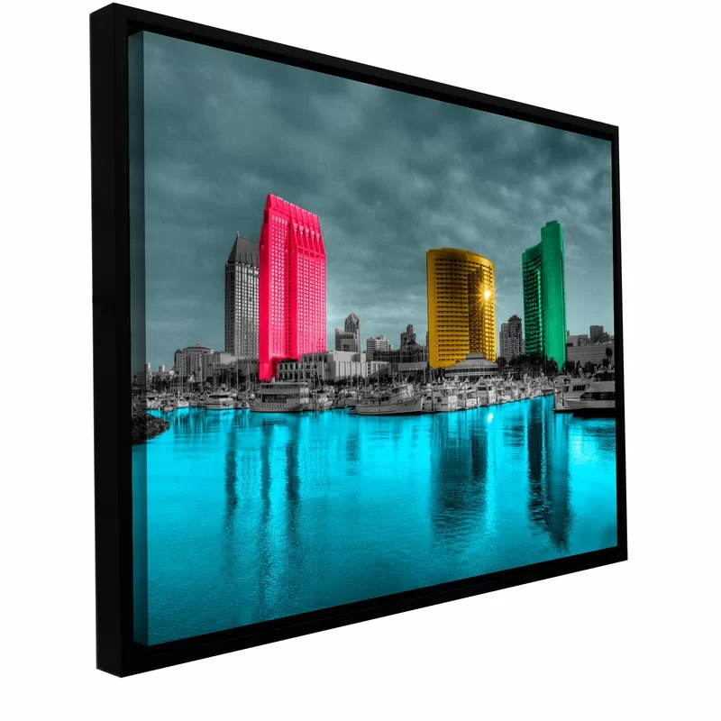 San Diego by Revolver Ocelot Framed Photographic Print on Wrapped Canvas Size: 32 H x 48 W