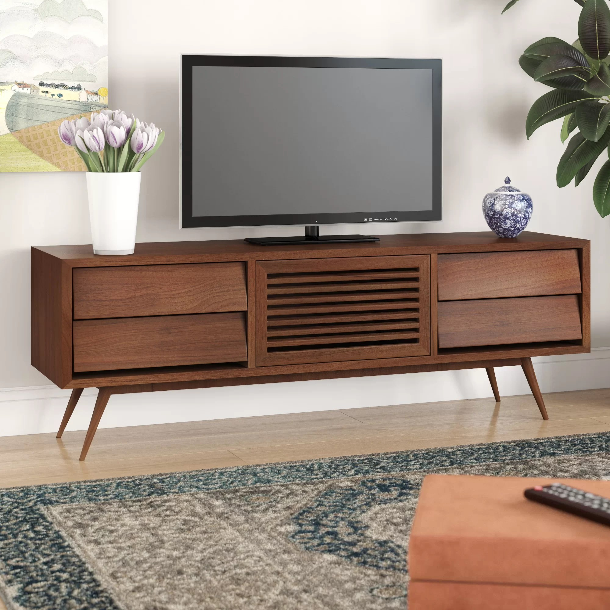Corrigan Studio Garrick Solid Wood Tv Stand For Tvs Up To 78 Wayfair