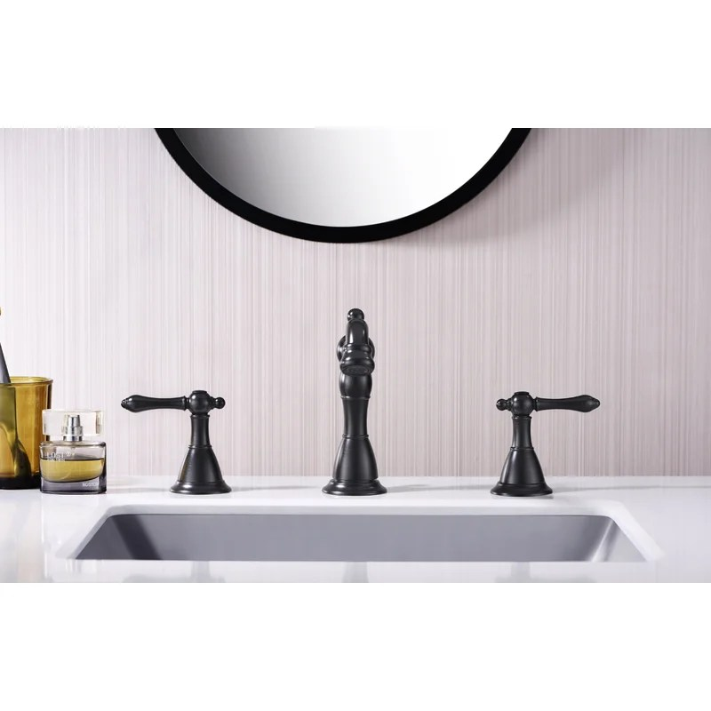 prime two handle lavatory widespread bathroom faucet with drain assembly