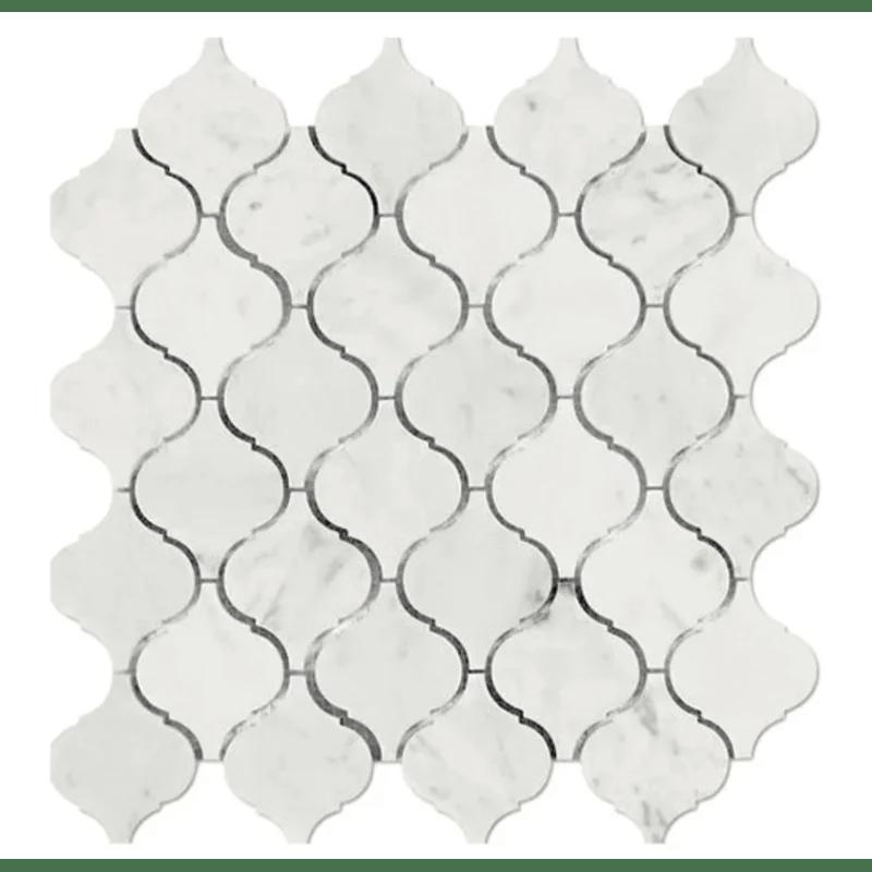 eastern 3 x 3 marble arabesque mosaic tile