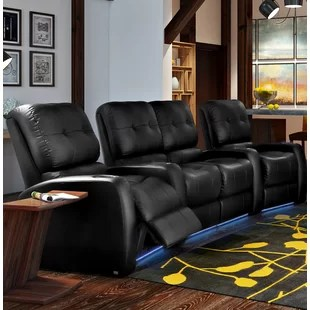 stadium seating couches living room open plan interior design theater you ll love wayfair quickview