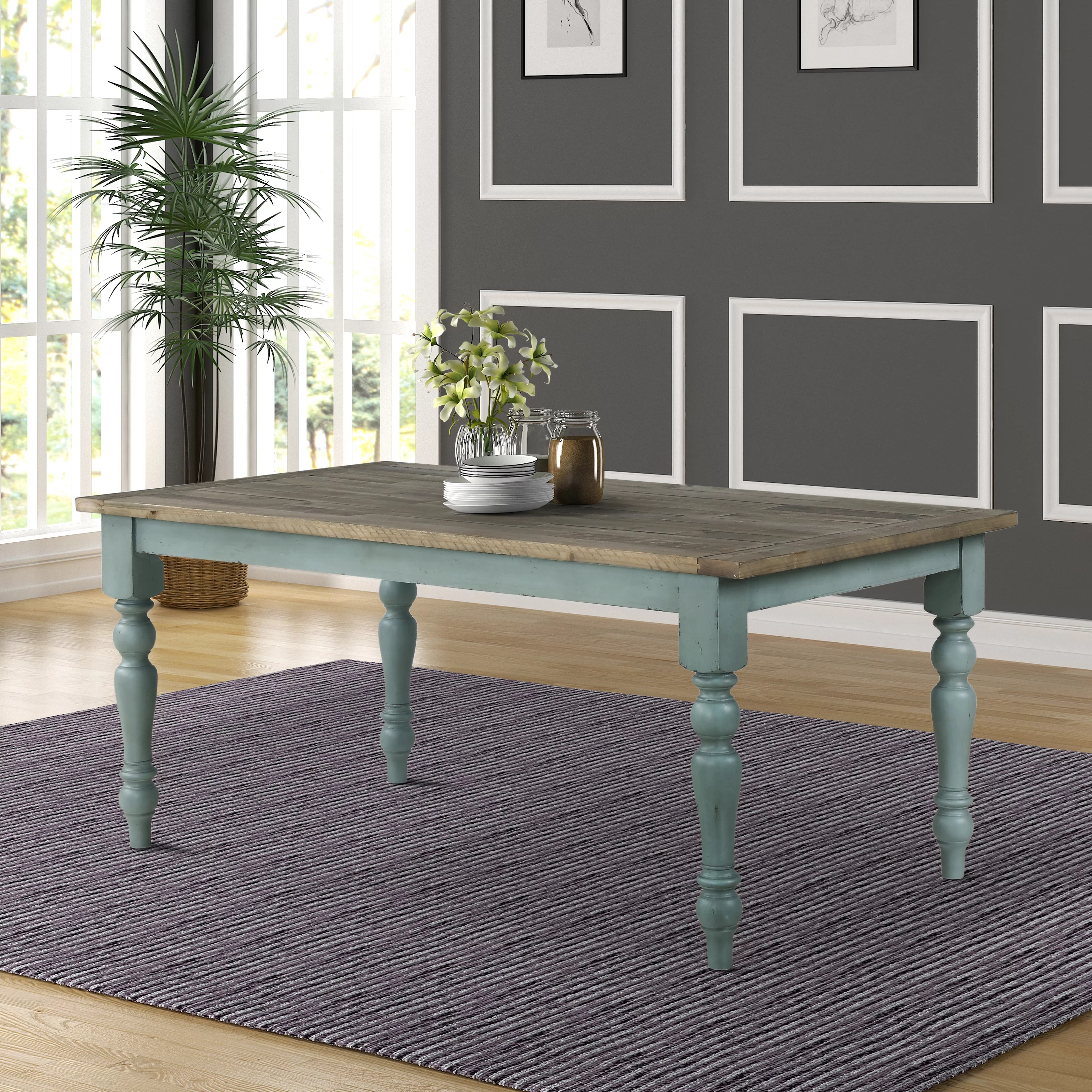 Ophelia Co Cierra Two Tone Dining Table Reviews