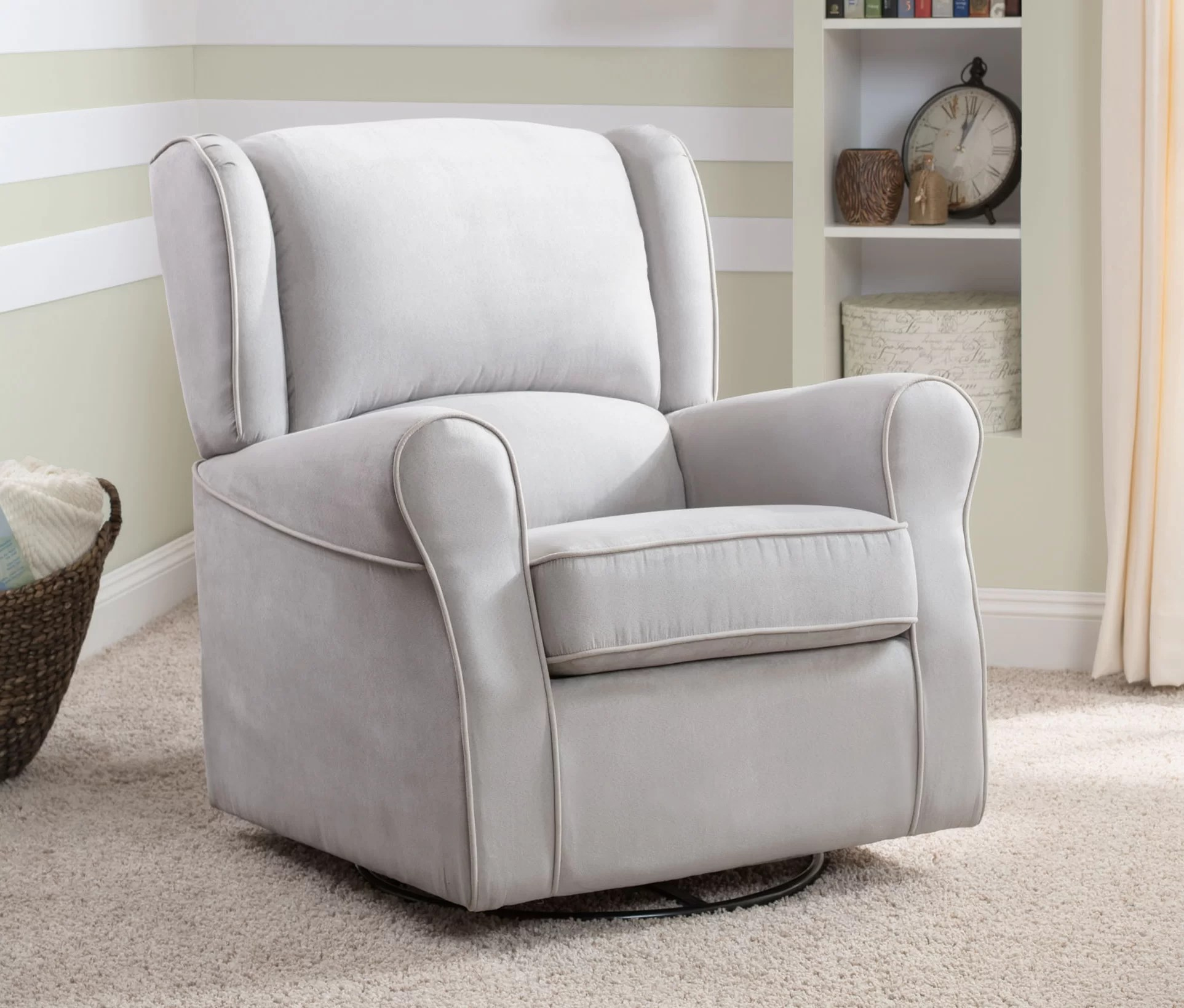 Toddler Upholstered Rocking Chair Morgan Upholstered Glider