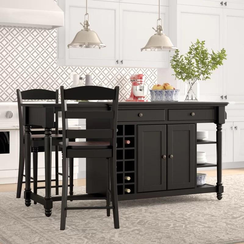 kitchen island set remodel ideas for small birch lane kidd 3 piece reviews wayfair
