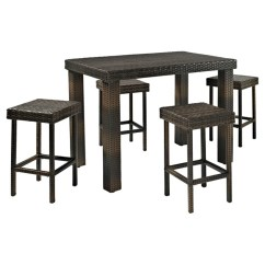 Bar Height Kitchen Table Sets Farmhouse Industrial 5 Piece Set Wayfair Belton Dining