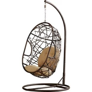 hanging rattan chair geri chairs for elderly modern contemporary allmodern adelia swing with stand