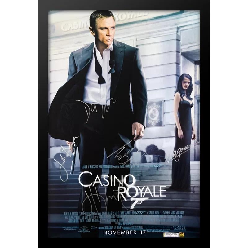 james bond casino royale framed autographed movie poster