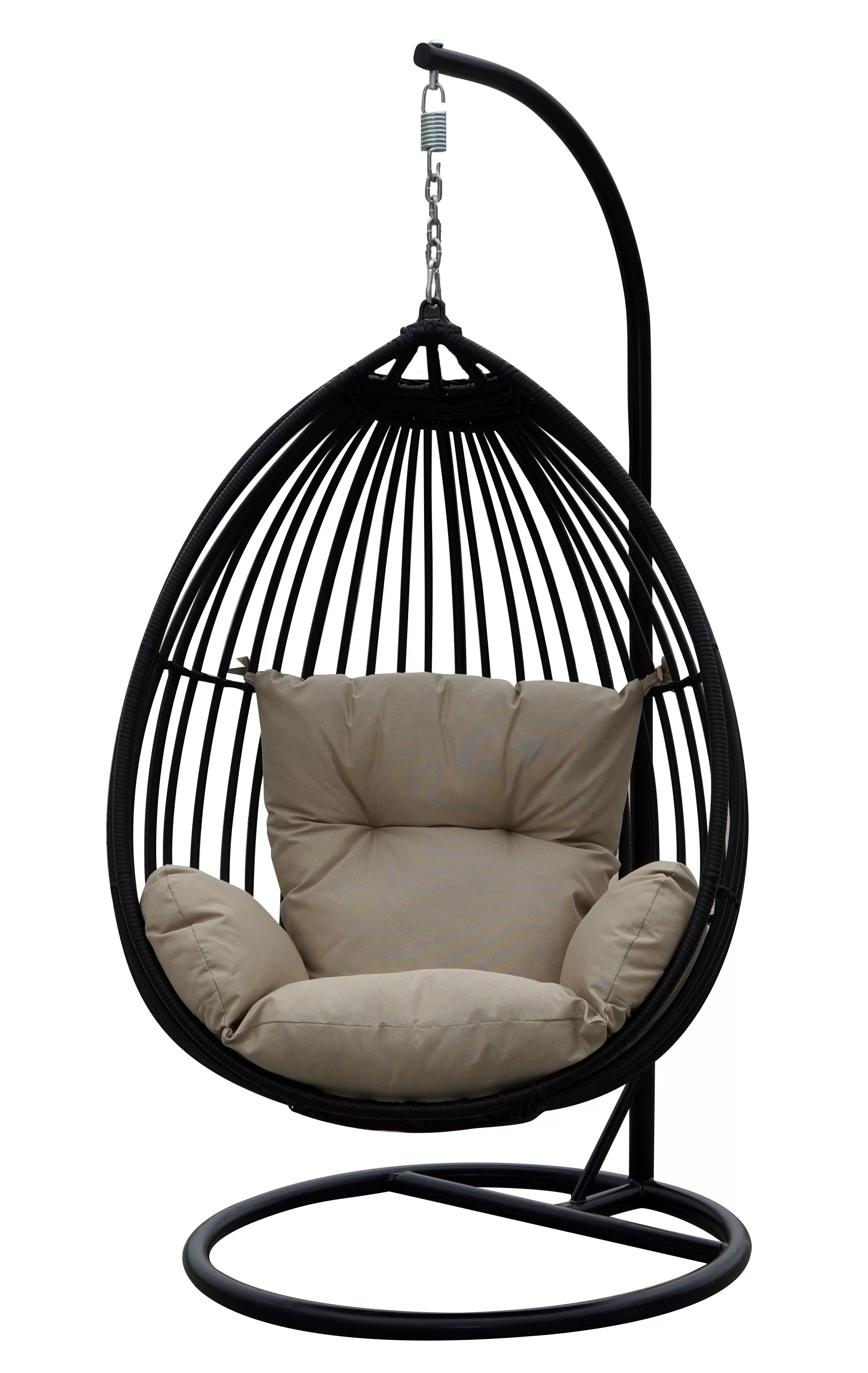 Hanging Chair Outdoor Audra Swing Chair With Stand Reviews Allmodern