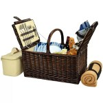 Picnic At Ascot Frisco Traditional American Style Picnic Basket With Blanket London Plaid Picnic Baskets