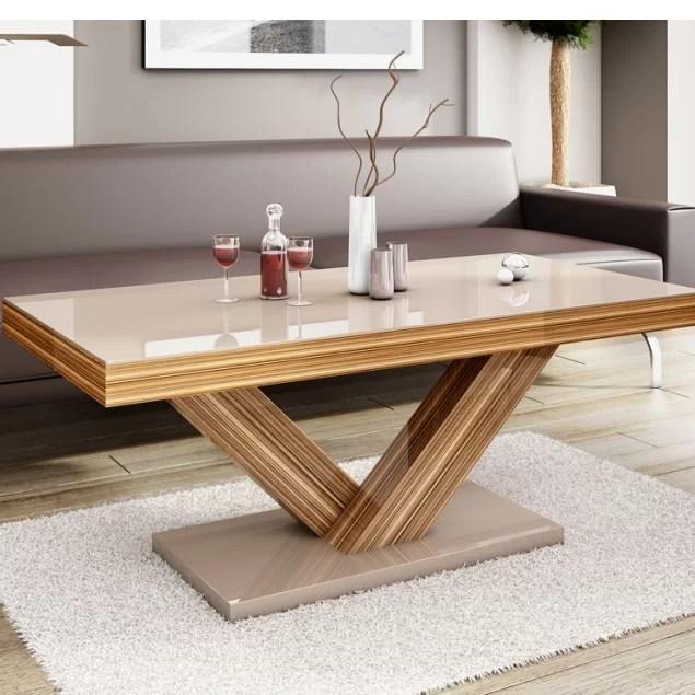 aina cross legs coffee table