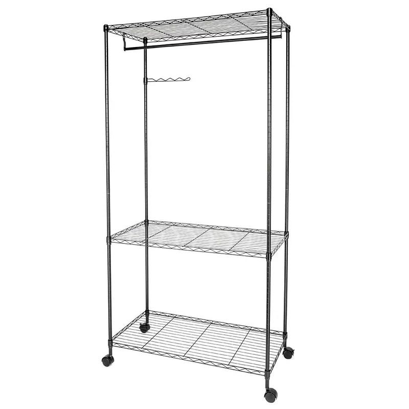 johannes 35 4 w sturdy shelving garment rack movable wardrobe closet