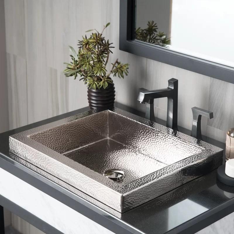 tatra metal rectangular drop in bathroom sink