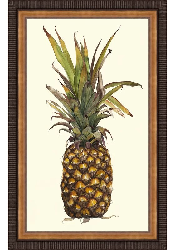 Trends Pineapple Study II Framed Painting Print