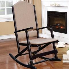 Foldable Rocking Chair Purple Velvet Vanity Red Barrel Studio Cinthia Solid Wood Folding Reviews Wayfair