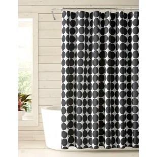 modern black white shower curtains