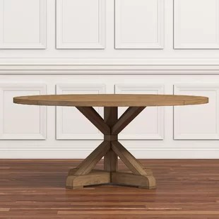 rustic dining table and chairs chair design parameters farmhouse tables birch lane peralta round solid wood