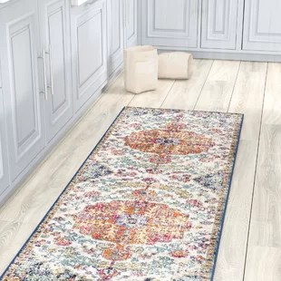 kitchen runner rugs wood play set birch lane hillsby blue orange area rug