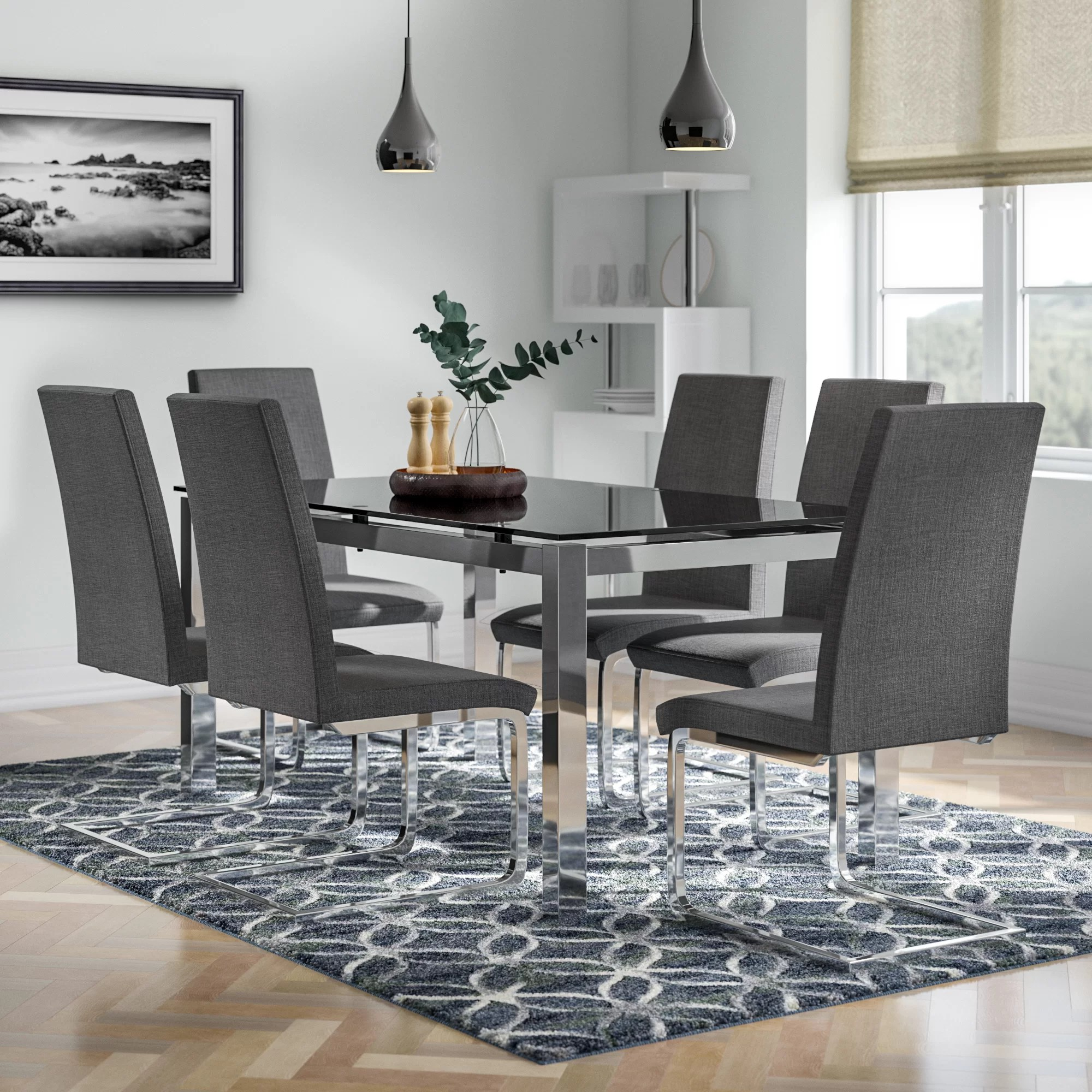 Dining Chair Set Of 6 Neville Dining Set With 6 Chairs