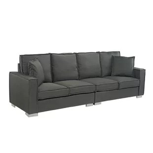 steel frame sofa sectional grey baxton studio couch wayfair quickview