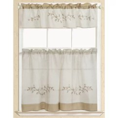 Curtains Kitchen Round Tables Rustic Wayfair Embroidered Curtain