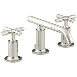 modern polished nickel bathroom sink