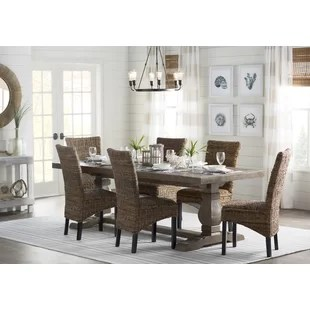 solid oak dining table and chairs gaming for small rooms farmhouse tables birch lane gertrude wood