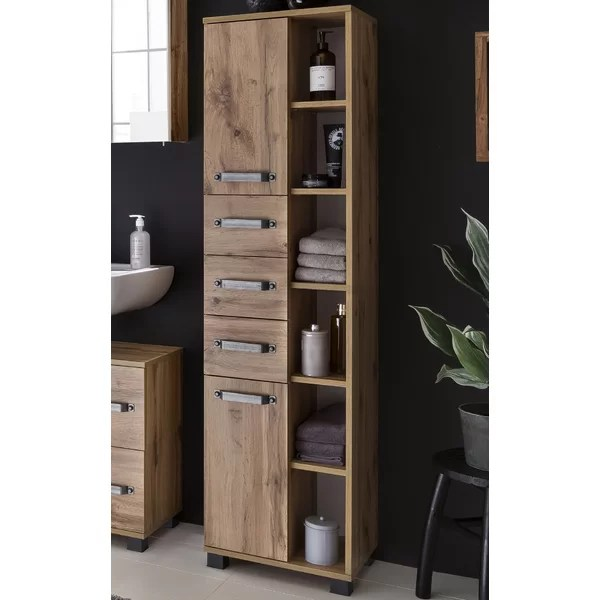 Borough Wharf Renteria 41 9 X 163 7cm Tall Bathroom Cabinet Reviews Wayfair Co Uk