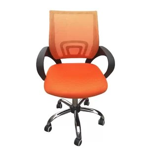 orange office chair butterfly covers chairs you ll love wayfair co uk quickview