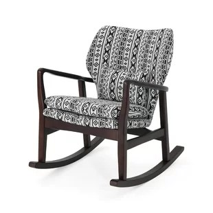 black rocking chairs hair dryer with chair modern contemporary upholstered allmodern winchell