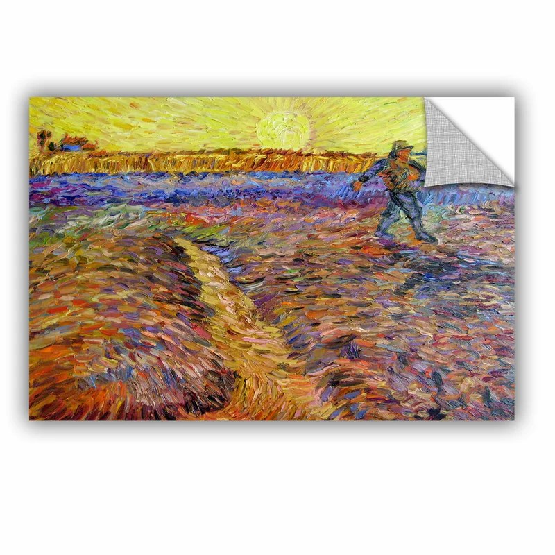 The Sower by Vincent Van Gogh  Removable Wall Decal Size: 16 H x 24 W x 0.1 D